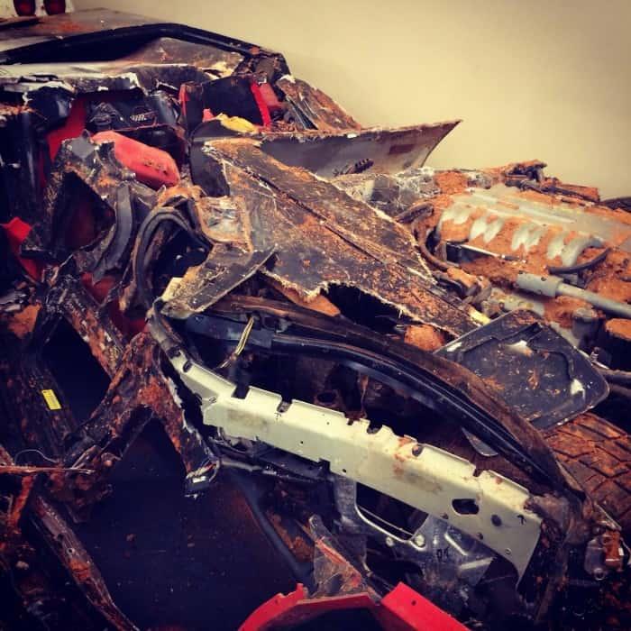 crushed corvette National Corvette Museum Bowling Green, Kentucky sinkhole