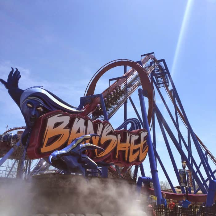 Banshee World's Longest Inverted Roller Coaster at Kings Island Amusement Park