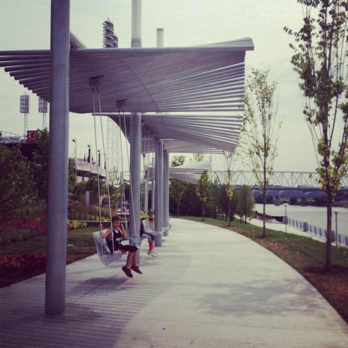 swings by riverfront 2