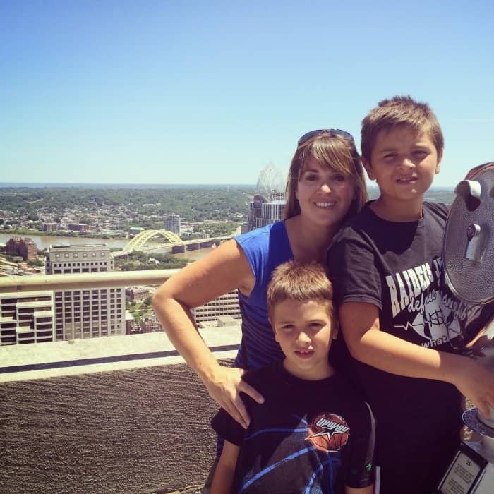 Family Picture on top of Carew Tower