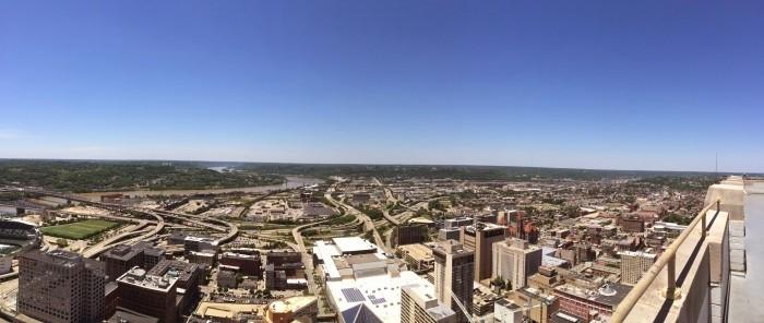 Panoramic Cincinnati skyline