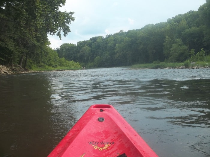 Kayaking at Morgan's Brookville Canoe and Outdoor Adventures