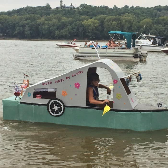 Cardboard Boat Museum And Race Regatta In New Richmond Ohio