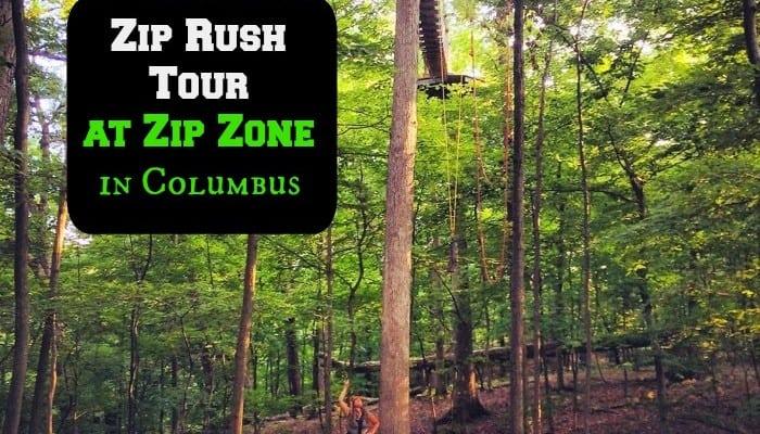 Zip Rush Tour at Zip Zone in Columbus