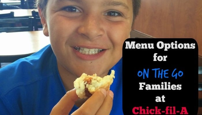 Menu Options for On the Go Families at Chick-fil-A
