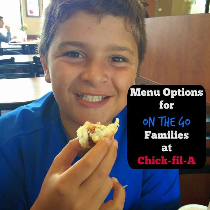 Menu Options for On the Go Families at Chick fil A
