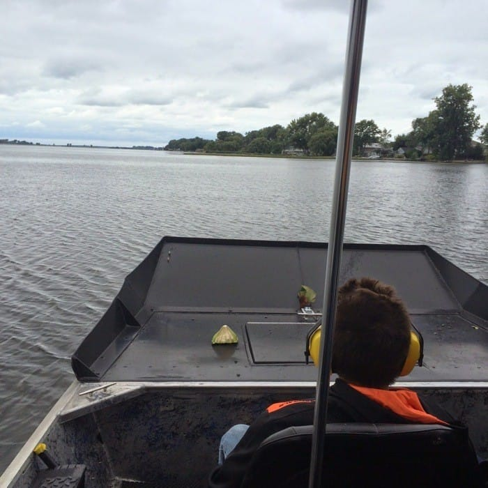 airboat ride on Lake Erie and Sandusky Bay in Sandusky Ohio