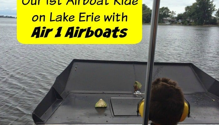 Our 1st Airboat Ride on Lake Erie with Air 1 Airboats