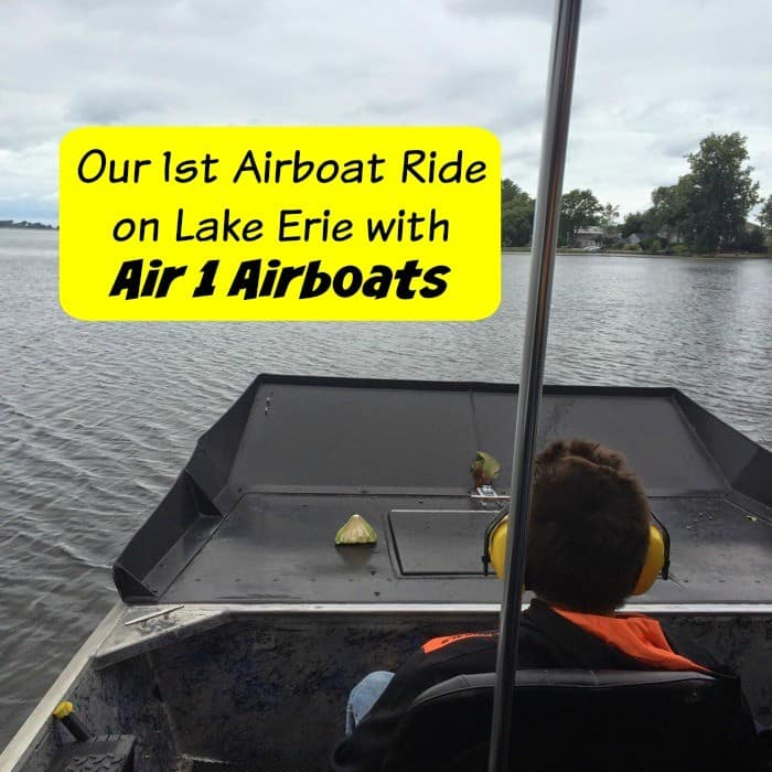 Airboat Ride on Lake Erie with Air 1 Airboats Cover