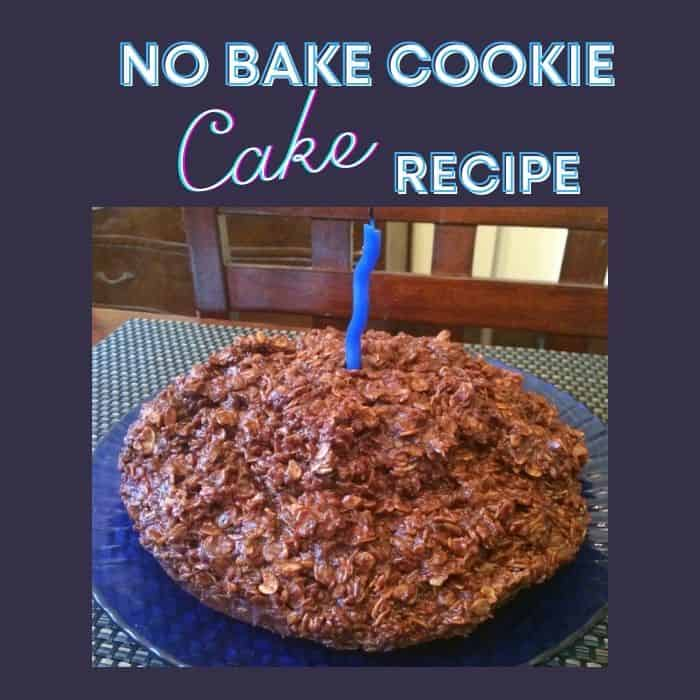 No Bake Cookie Cake recipe
