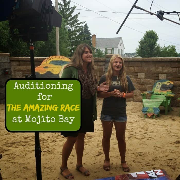 auditioning for the Amazing Race at Mojito Bay