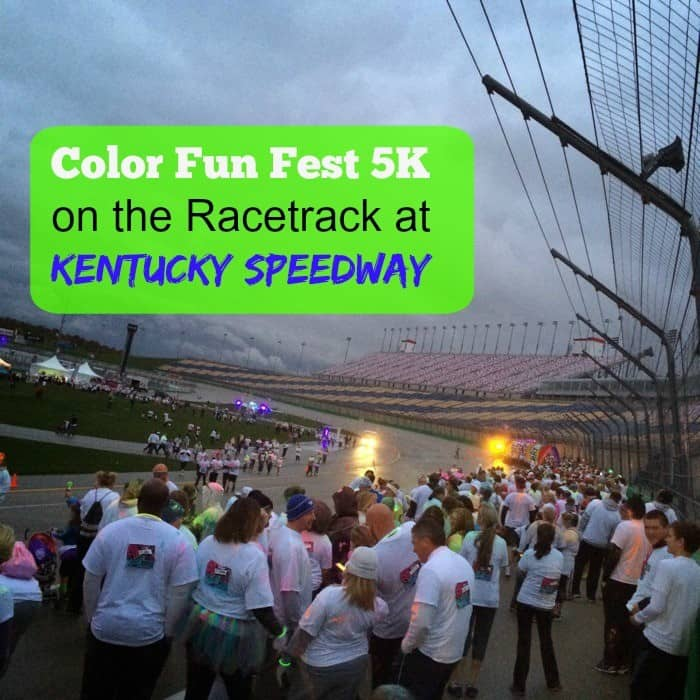 Color Run 5k on the racetrack at Kentucky Speedway Cover