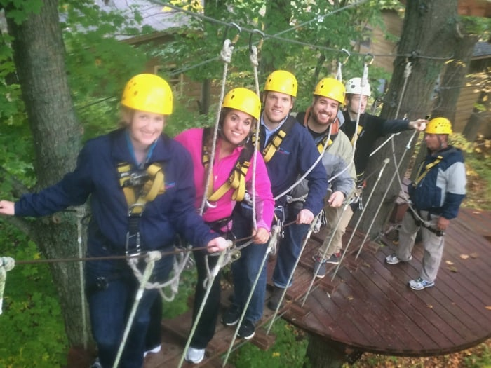 Group picture Ozone Zipline Adventures