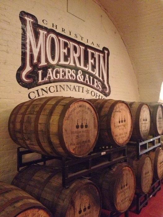 Queen City Underground Tour Christian Moerlein bottling tap room.