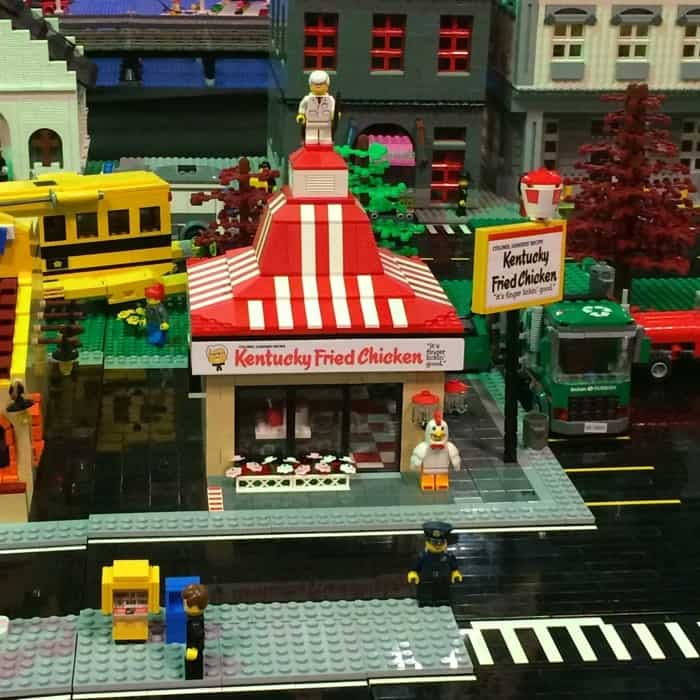 KFC LEGO display