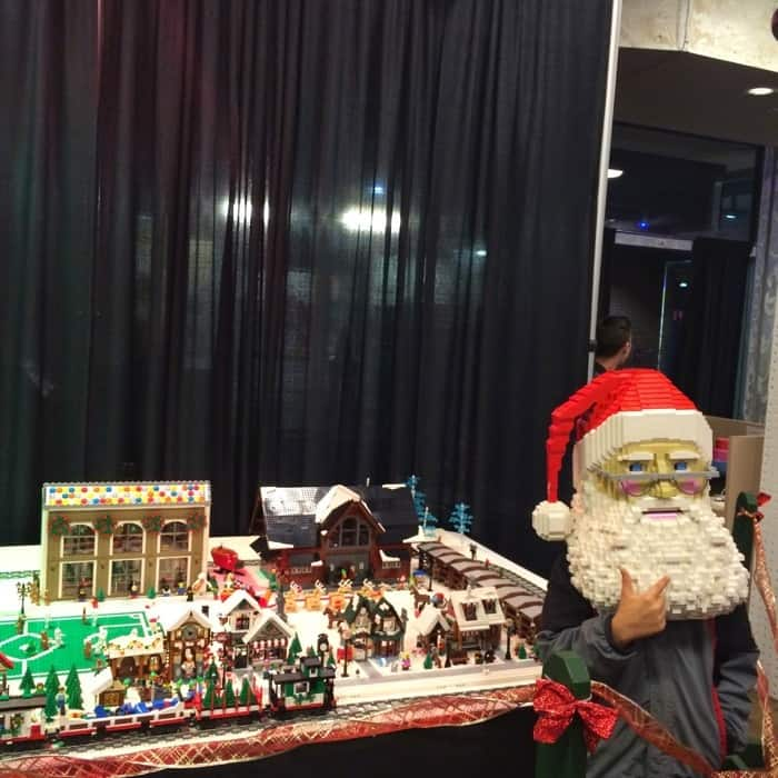 Santa mask BRICKmas at Newport on the Levee