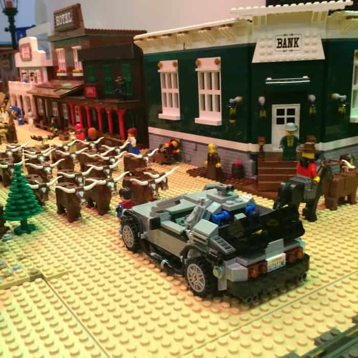Back to the Future BRICKmas at Newport on the Levee