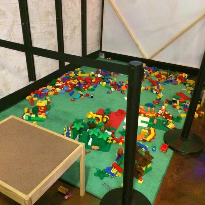 Play area at BRICKmas at Newport on the Levee