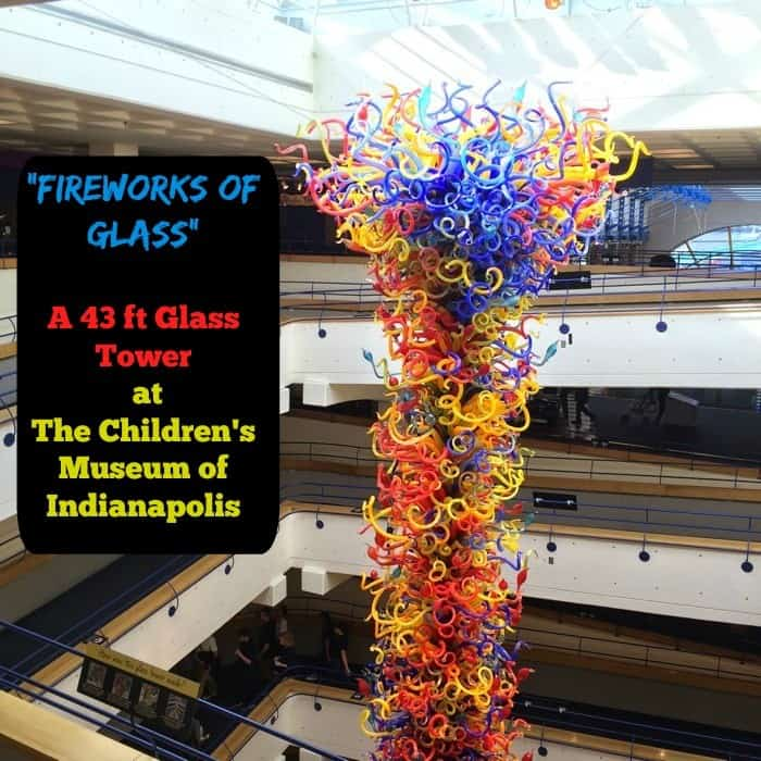 """Fireworks of Glass"" - A 43 ft glass tower at The Children's Museum of Indianapolis"