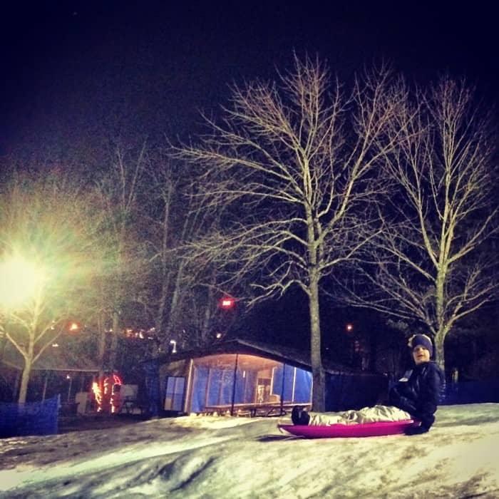 Snow Tubing at Beach Mountain