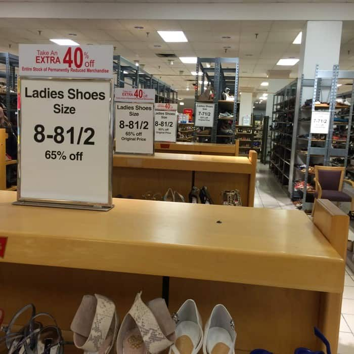 Dillards Ladies Shoe Department