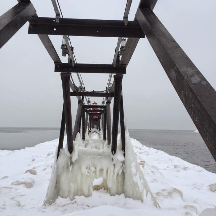 Icy Grand Haven Pier