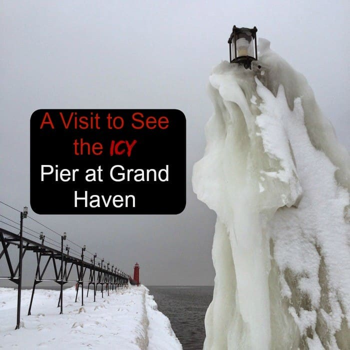 Icy Pier at Grand Haven