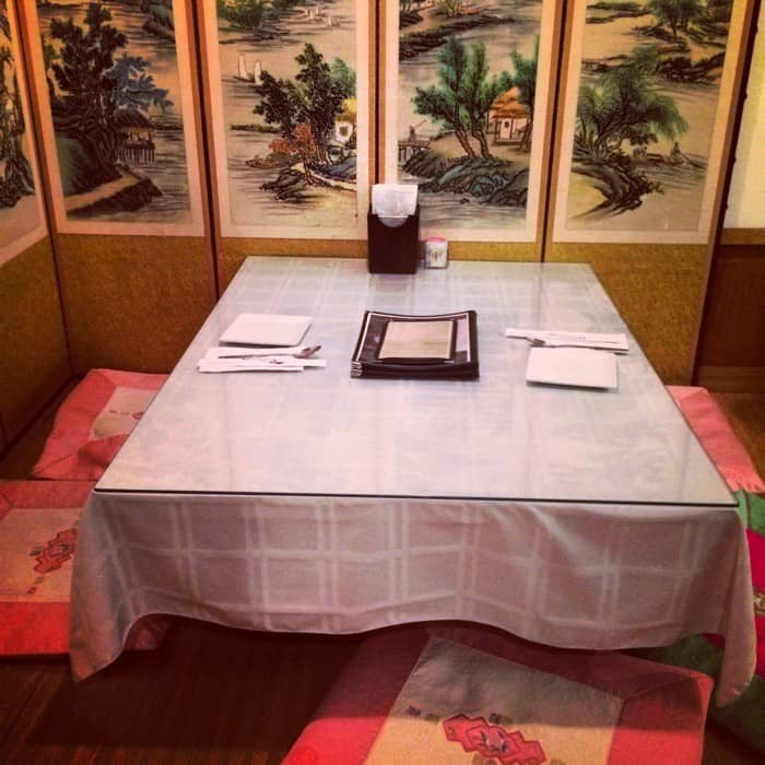Riverside Korean table1
