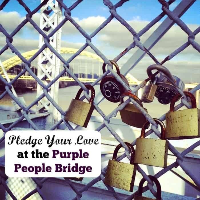 Pledge your love at the Purple People Bridge