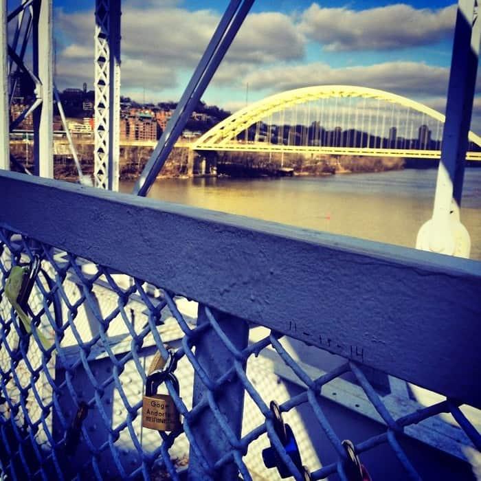 Purple people bridge locks4