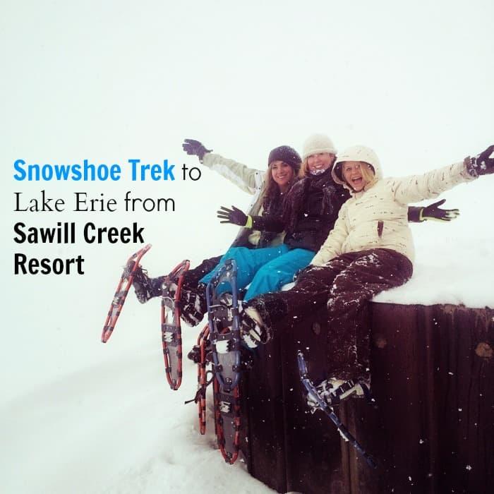 Snowshoe Trek to Lake Erie from Sawmill Creek Resort