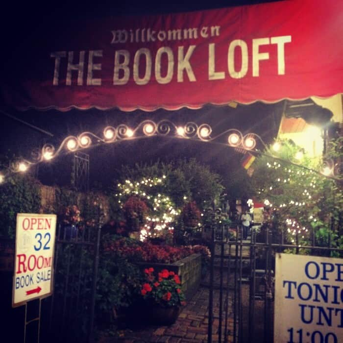 Garden view at The Book loft of German Village