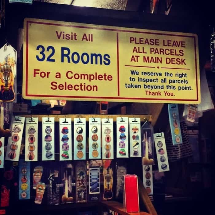 32 Room sign at The Book loft of German Village