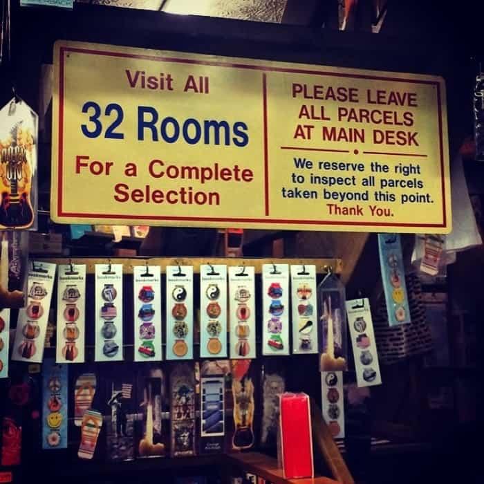 32 Room sign at The Book loft of German Village