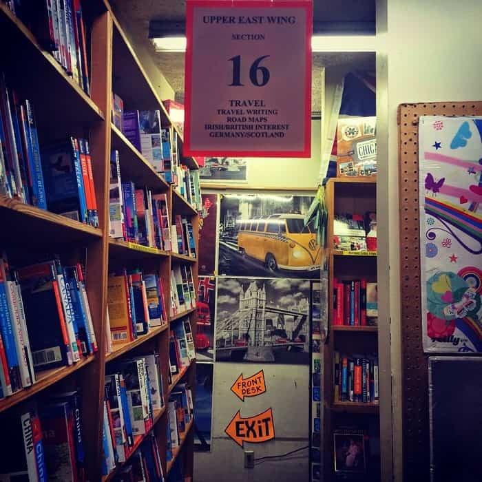 Book shelf at The Book loft of German Village