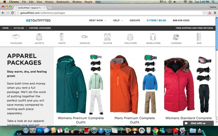 GetOutfitted rental snow gear