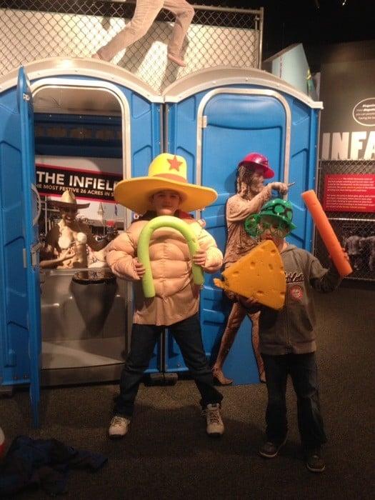 Infield exhibit at Kentucky Derby Museum