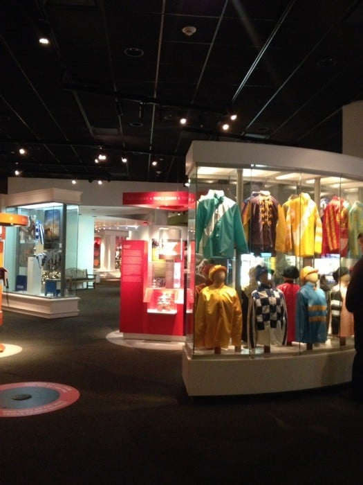 Racing stripes at Kentucky Derby Museum