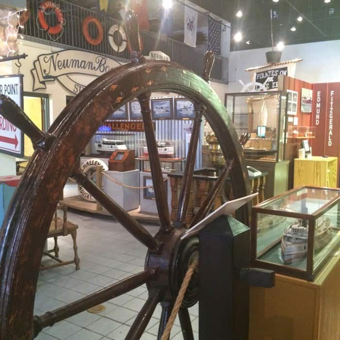 exhibits at the Sandusky Maritime Museum