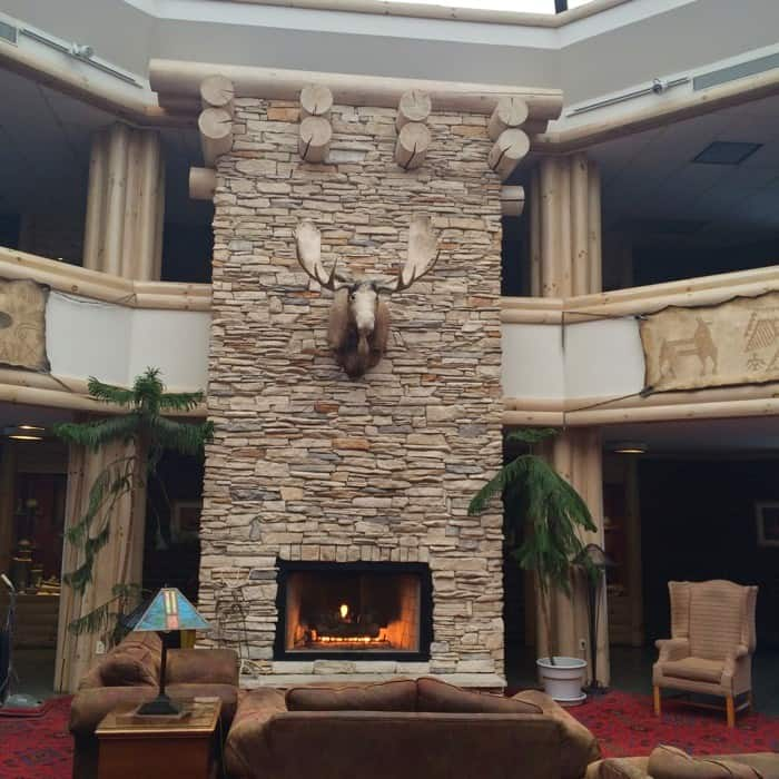 fireplace at Sawmill Creek Resort