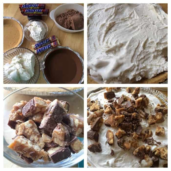 snickers pie collage