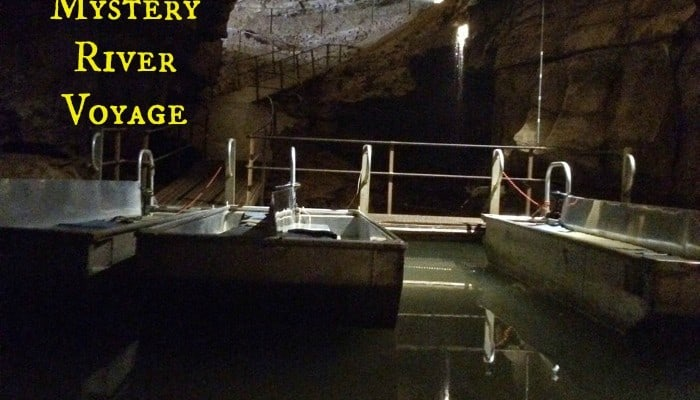 Underground Boat Tour on the Bluespring Caverns Mystery River Voyage