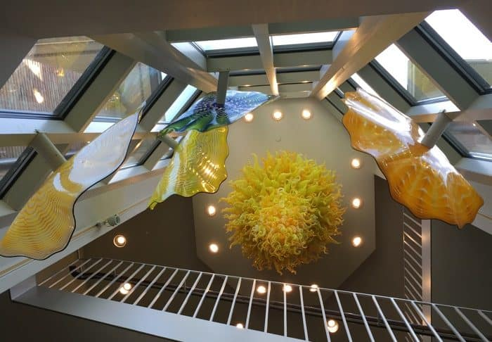 Chihuly Chandelier in the Columbus Indiana Visitor Center