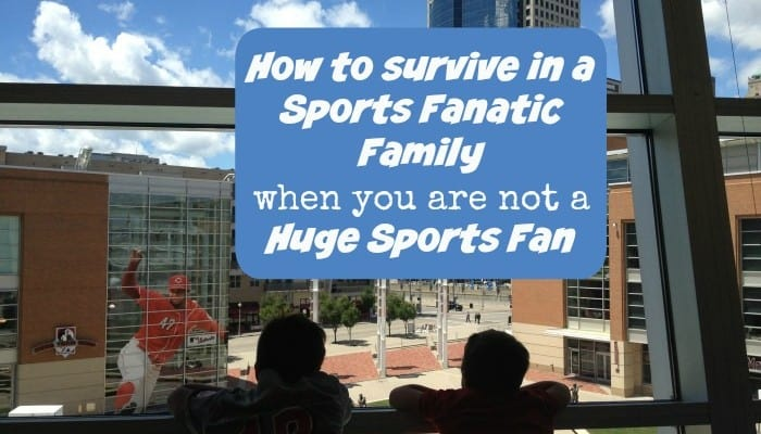 How to survive in a Sports Fanatic Family when you are not a huge Sports Fan