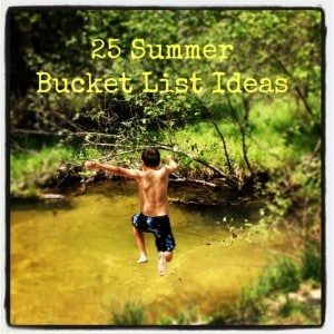 25 Summer bucket list ideas