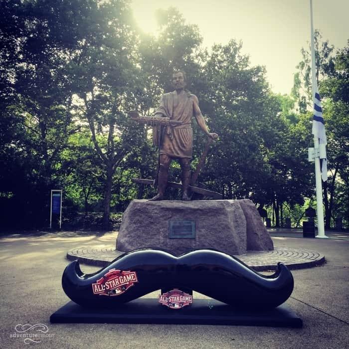 All-Star Game Handlebar Mustache StatueSawyer Point