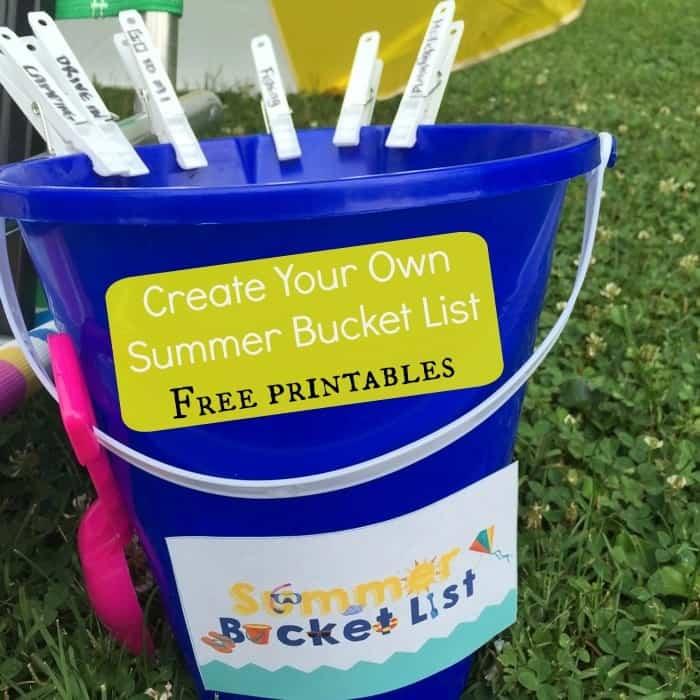 Create your own summer bucket list