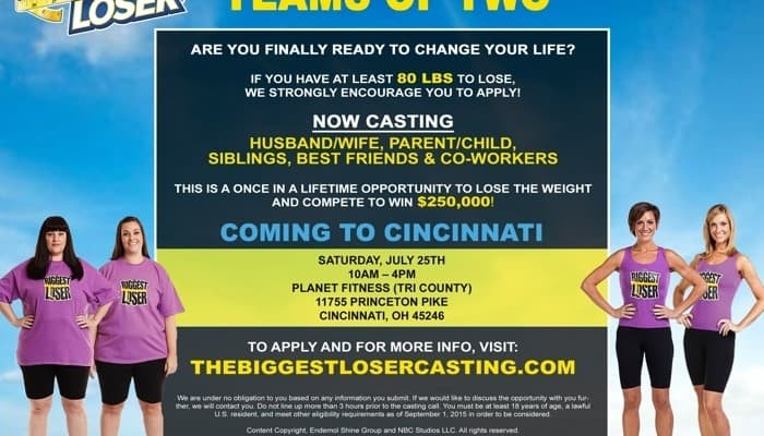 Front of the Line Pass Giveaway for The Biggest Loser Casting Call in Cincinnati