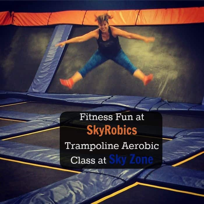 Fitness Fun at Skyrobics Trampoline Aerobic Class at SkyZone