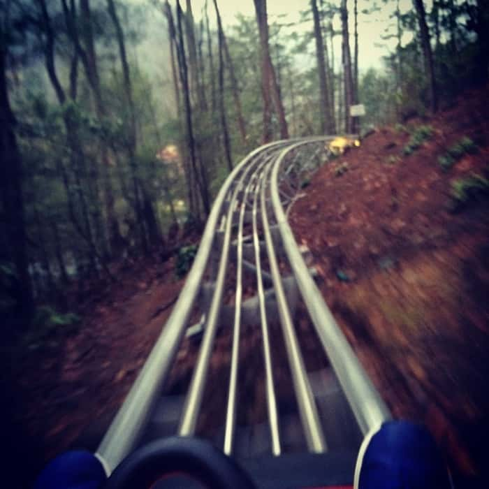 Mountain coaster in Gatlinburg, TN